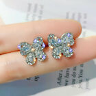 Gorgeous 925 Silver,gold,rose Gold Stud Earrings For Women Jewelry A Pair/set