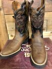 Men's Round Toe Cowboy Boots Crazy Horse Made in Mexico