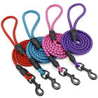 Dog Leads Rope Slip Retractable Hook Clip Standard Small Medium Collars Sets