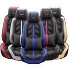 10PC Universal Leather Car Seat Cover Full Set Breathable For 5 Seat Car SUV Van $119.95 USD on eBay