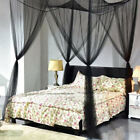 4 Corner Post Bed Canopy Mosquito Net Netting Bedroom Hanging Bed Valance Drapes