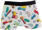 Jereee Cartoon Airplane Helicopter Men's Underwear Soft Polyester Boxer Brief fo