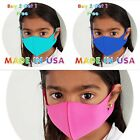 Kids Fabric Face Mask,washable,made In Usa,7 Different Colors, 5 Different Sizes