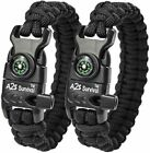 A2S Protection Paracord Bracelet K2-Peak Survival Gear Kit with Embedded Compass
