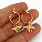 Fashion Bee 925 Silver,Gold Stud Earrings for Women Jewelry A Pair/set image