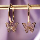 Fashion Butterfly Drop Earrings Women 14k Rose Gold Plated Jewelry A Pair/set image