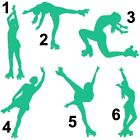 1 x Teal Roller Skating Car/Mirror/File Decal Stickers 6 Designs Available