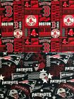 New England Patriots hometown or Red Sox block fabric 1/4 yard 9x44 45 face mask $10.0 USD on eBay