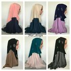 Premium Cotton Jersey Scarf Hijab Muslim Head cover Rectangle 170x 60cm