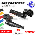 25mm Riser CNC Billet Front Footpegs For Triumph Tiger 955i 01-07 04 05 06 $40.25 USD on eBay