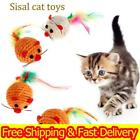 1-10Pcs Sisal Rope Mouse Cat Toys Scratch Chew Play Teaser Funny Pet Kitten Gift