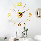 2020 Modern Large Wall Clock 3D Mirror Sticker Unique Big Number Watch DIY