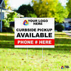 "CUSTOM YARD SIGN 18""x24"" Sign Coroplast Printed DOUBLE SIDED with FREE STAND"