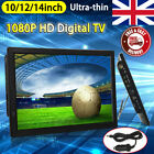 Freeview 1080P HDMI HD 10/12INCH 14INCH TV Digital Television Player PVR/USB 12V