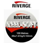 Riverge REEL SOFT Fluorocarbon 100m MAINLINE Leader Coarse Fly Fishing SEAGUAR