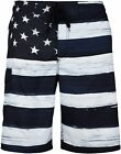 VBRANDED Men's American Flag Board Shorts