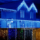 4M 96 LED Fairy Curtain Icicle String Lights Christmas Xmas Wedding Party Decor