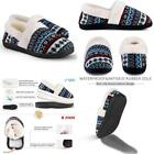 Women'S Slip-On Knit Slippers Memory Foam Slippers Fuzzy Wool-Like Plush Fleece