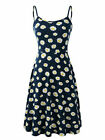 Womens Swing Dress Holiday Strappy Flower Ladies Summer Beach Midi Sun Dress