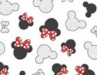 Mike red mouse black white FQ meter half 100%Cotton print fabric kids new