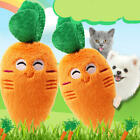 Soft Pet Dog Chew Toy Plush Sound Orange Carrot Shape Squeaker Toy For Puppy Cat