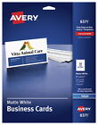 Avery Business Cards, 2 x 3-1/2 Inches, Inkjet Printable, Matte White, Pack of