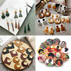 Retro Wood Rattan Earring Geometric Circle Dangle Drop Earrings Jewelry Gifts