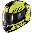 SMALL SHARK Motorcycle FULL FACE Helmet D-SKWAL Dharkov Gloss KYA Fluo Yellow