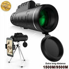 40X60 Zoom Optical HD Lens Monocular Telescope+ Tripod+Clip For Universal Phone image