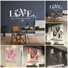 3d Mirror Love Hearts Wall Sticker Decal Diy Home Art Mural Decors Removable