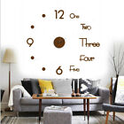 DIY Wall Modern Home 3D Large Wall Clock Big Watch Decal Stickers Roman Numerals