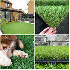 15 - 30mm Artificial Grass Quality Garden Green Lawn Astro Turf All Year Garden