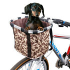 Bike Pet Basket Bag With Cover Folding Bicycle Front Bag Carrier