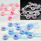 48 Mini Rattles for Baby Shower Favors White Party Decorations Girl Boy