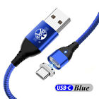 QC3.0 Charger 3A Magnetic USB Charging IOS Cable Micro TYPE-C For iPhone Android