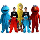 Lot Sesame Street Elmo Cookie Monster Mascot Costume Adult Suits Cosplay Dress