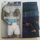 Stafford Men's 4-Pack woven boxers cotton various sizes.