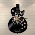 Acoustic Guitar Wall Art Wall Clock Musical Instrument Home Interior Wall Decor