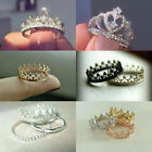 Fashion queen crown Women 925 Silver Wedding Band Rings White Sapphire Size 6-10 image