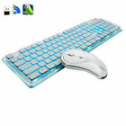 AU 2.4G Rechargeable Wireless Backlit Gaming Keyboard Keypad + PC Mouse Combo