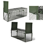 Live Catch Trap With 1/2 Doors Humane Rat Cat Fox Animal Outdoors Cage Catcher