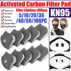 Reusable Mask Filters Pad Activated Carbon Filters Particle Purify Respirator Us
