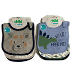 Infant Baby Boy Bibs 3 Pack Carters Dinosaurs Cars Animars Bears