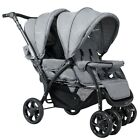 Foldable Lightweight Front Back Seats Double Baby Stroller