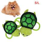 WR_ CW_ Pet Puppy Sea Turtle Shape Plush Doll Cotton Rope Squeaky Bite Play Toy
