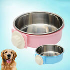 WR_ EE_ AM_ LC_ Stainless Steel Hanging Feeding Bowl fixed Food Water Pet Cat Do