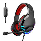 Gaming Headset 3.5mm MIC Stereo Headphones For PC PS4 Xbox One Nintendo Switch V