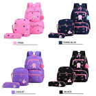 Girls Set Floral School Bags School Shoulder Backpack Pencil Case