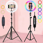 LED Selfie Ring Light with Tripod Stand Cell Phone Holder for Live Stream/Makeup