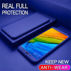 360° Full Cover For Xiaomi Redmi Note 9S 8T 8 7 6 Pro Hybrid Case+Tempered Glass